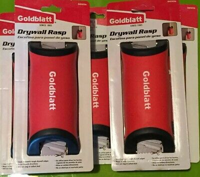 Goldblatt Drywall Rasp Stainless Blade Rubber Handle  Trims Smooth Edge Lot Of 5