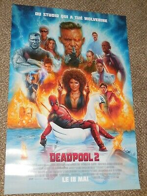 "Deadpool 2 ""FRENCH VER C"" vg 27x40 Original D/S Movie Poster"