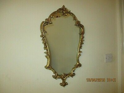 Beautiful Vintage Ornate Gilt Framed Rococo Style Wall Mirror