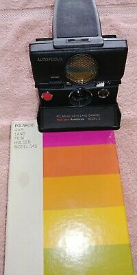 Polaroid SX-70 LAND CAMERA MODEL 2 WITH FILM HOLDER MODEL 545 - NOS