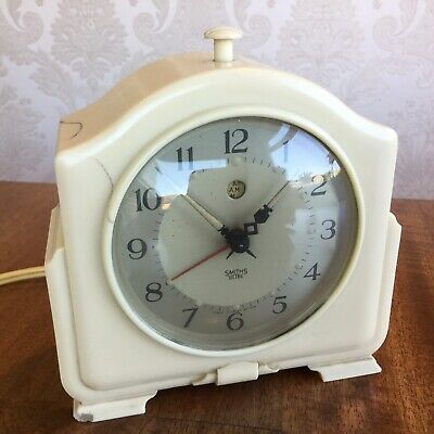 SMITHS SECTRIC Model CA Electric Art Deco 1950s Bakelite Alarm Clock working