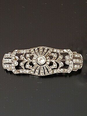 Art Deco Sterling Silver And Paste Brooch