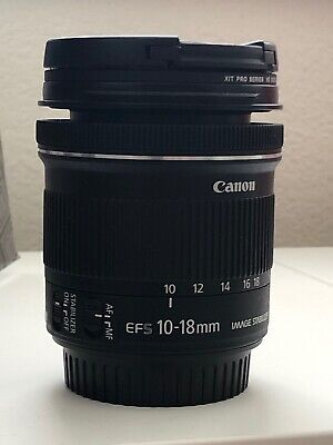 Canon EF-S 10-18mm Lens + UV Filter