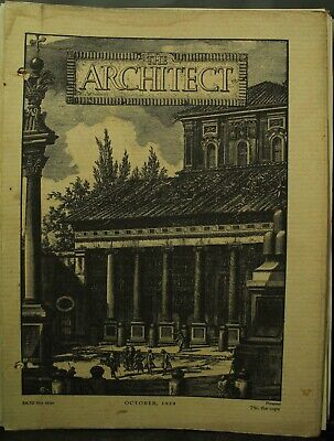 The Architect antique vintage old Architecture Arts magazine Journal Oct 1929