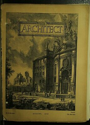 The Architect antique vintage old Architecture Arts magazine Journal August 1930
