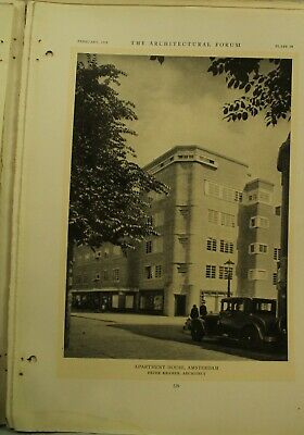 The Architectural Forum antique vtg old Architecture Arts magazine February 1929