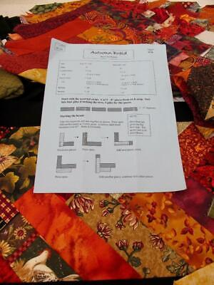 Autumn Braid Strip Club Queen Quilt Kit Partially Completed All Fabric Included