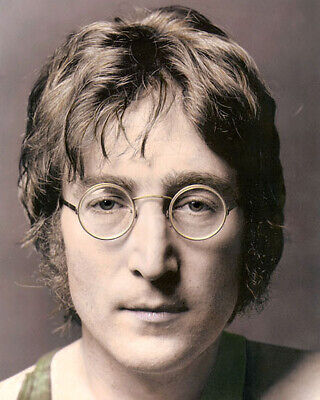 "JOHN LENNON BEATLES SINGER SONGWRITER 11x14"" HAND COLOR TINTED PHOTOGRAPH"