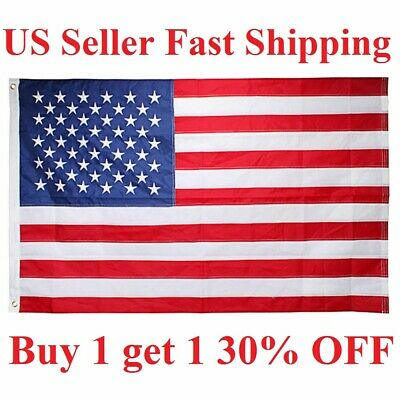 3'x 5' FT American Flag U.S.A U.S. US United States Stripes Stars Brass Grommets