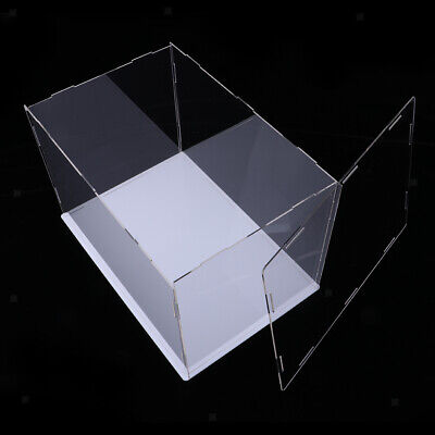 Clear Acrylic Display Case Box 36x16x16cm Perspex Cube for Mini Doll Figures