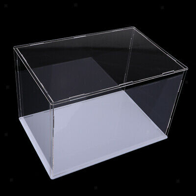 Clear Acrylic Display Case Box 32x25x25cm Perspex Cube for Mini Doll Figures