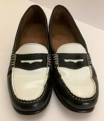 594040518b174 GH BASS & CO WEEJUNS Women's Whitney Penny Loafers Black/White Size ...