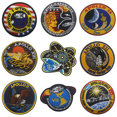 Apollo Series Sew On/Stick On Embroidered Patches Applique Armband DIY Clothing