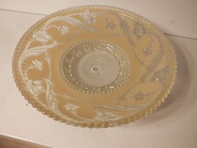 Large Antique Ceiling Lamp Shade Chandelier Art Deco