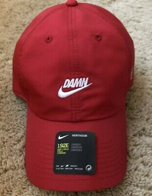 1766172b NIKE X KENDRICK Lamar DAMN White Cap Pop Up Shop Red TDE ...