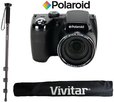 Polaroid IS2132 16MP, Zooming at 84x + 67'' Vivitar Monopod and Bag