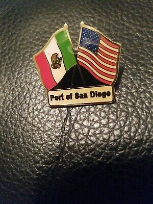 Port of San Diego  U.S./Mexico Flags Lapel Pin
