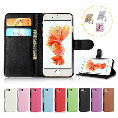 For Apple iPhone X 8 7 6 Plus 5 SE Flip Card Leather Magnetic Wallet Case Cover