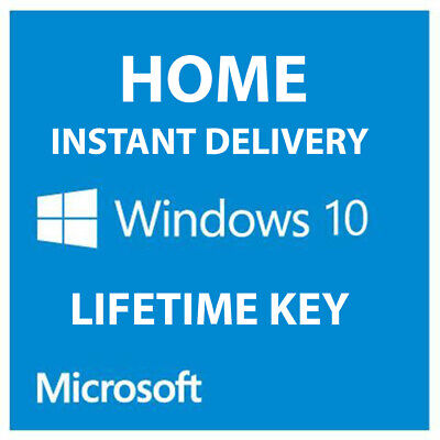 Instant Windows 10 Home Key Product License Activation Code 64 Bit Key Microsoft