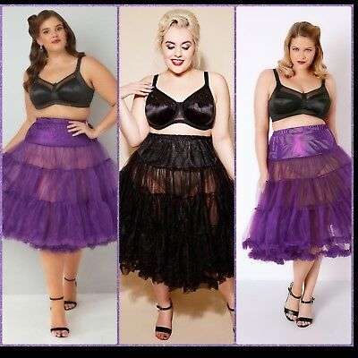 PLUS SIZE HELL BUNNY Bunny  PURPLE or BLACK Vintage Petticoat