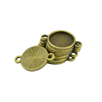 10  Antiqued Bronze Pewter Swallow Bird Connector Link 37x30mm