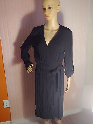 H&M Black Long Sleeve Dress Size 10 pre-owned