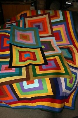 """Hand Made Quilt """"FREE YOUR SCRAPS"""" Design by Quilt-Addicts 82"""" x 64"""""""