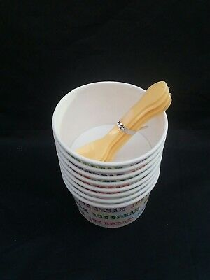 30 x ICE CREAM TUBS CUPS with  SCOOPS Party Van Parlour
