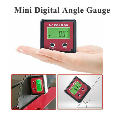 360°Digital LCD Protractor Gauge Angle Finder Bevel Level Box Inclinometer Meter