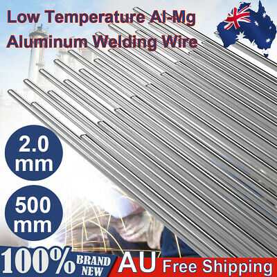 2mm*500mm Low Temperature Aluminum Welding Wire Soldering Rod Set 10/ 20/ 50Pcs