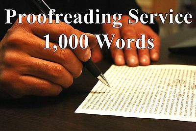 Proofreading Service for Written Content - 1000 Words - Edit Grammar & Spelling