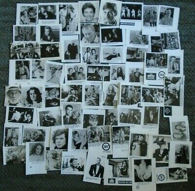 63 VARIOUS FILM PRESS PHOTOS of the FILM STARS cut to small sizes