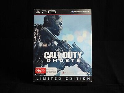 CALL OF DUTY GHOSTS LIMITED EDITION (SONY Playstation PS3 GAME, MA 15+) TIN Case