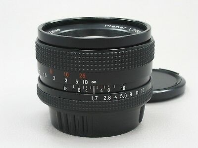 Carl Zeiss Planar 50mm f/1.7 Lens Contax Yashica T* MINT 814