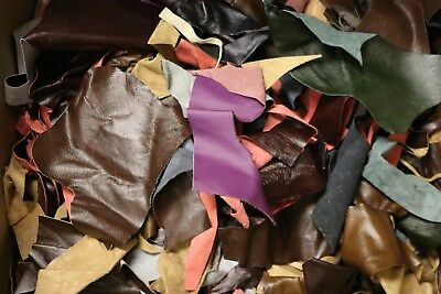 2Kg Upholstery Quality Leather Arts & Crafts,Off Cuts,Scrap,Remnants,Pieces