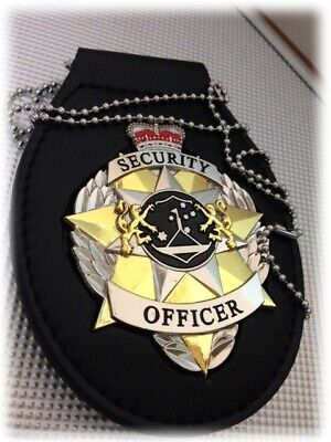 Security Badge Executive with Belt Holder, Badge Recessed