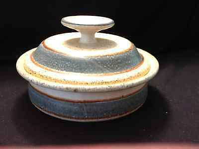 "Jack Westlin Studio Signed Covered Dish Art Pottery Handcrafted 8"" Diameter"