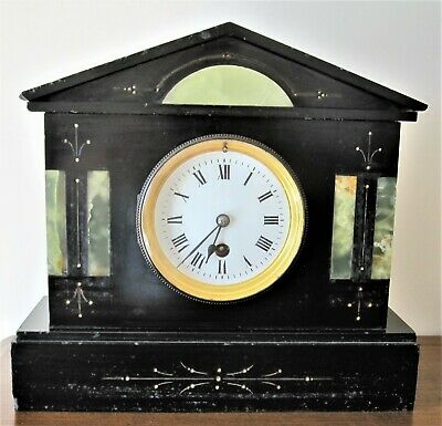 Slate and marble clock