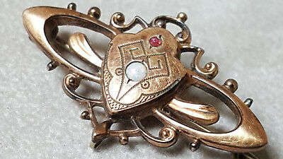 Antike Brosche Biedermeier,antique jewelry,spilla antica,broche,Nadel vergoldet