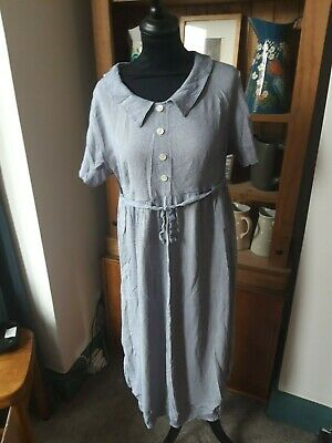 Vintage Blue Check Short Sleeved Dress