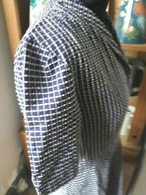 Vintage Blue Checked Shirt Dress