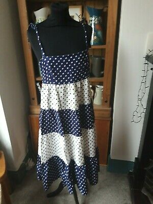 1970 Vintage Polka Dot Strappy Summer Dress