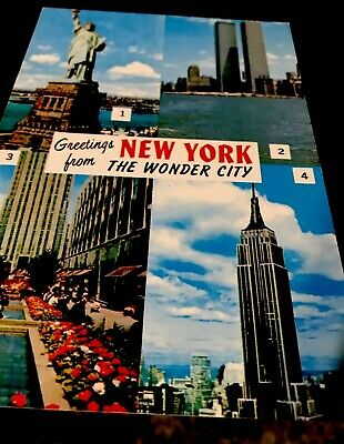 Post Card From New York Still Has Twin Towers Pictured