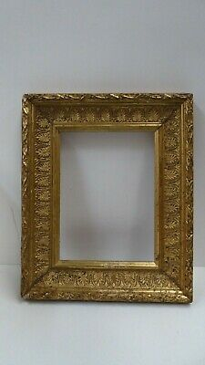 Antique Victorian Wooden Gesso Plaster Decorated Gilded Picture Frame
