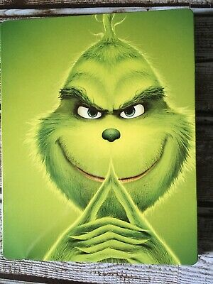 Dr. Seuss' The Grinch 2018 (Blu-ray/DVD) Steel Book Best Buy Exclusive