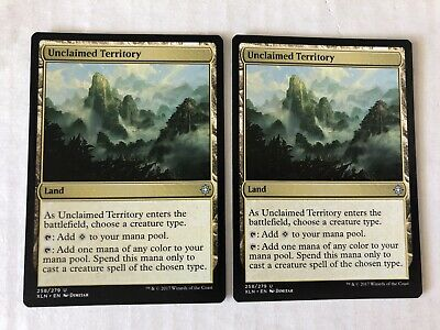 4 x UNCLAIMED TERRITORY NM mtg Ixalan Land Unc