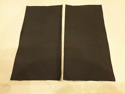 "Black 100% leather 2 pieces 9"" x 4.5""  Quality offcuts 1.1mm Craft Patch Repair"