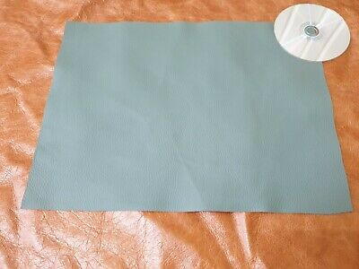 Green 40cmx30cm large offcut 100% leather Yarwood 1.4mm Craft patch repair