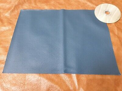 Blue 40cmx30cm large offcut 100% leather Yarwood 1.4mm Craft patch repair