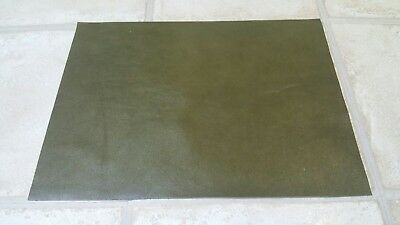 Green Shiny 40cmx30cm large offcut 100% Italian leather 1.1mm Craft patch repair